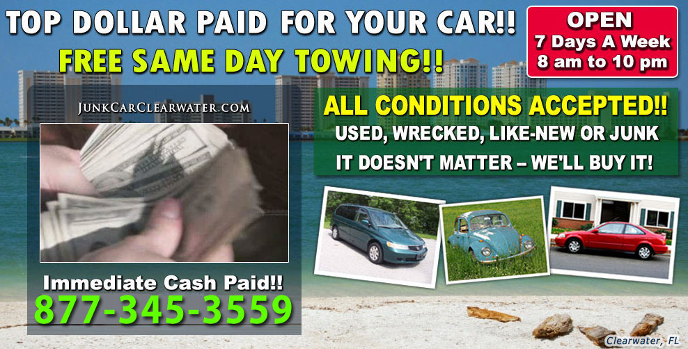 Cash For Junk Cars Clearwater - Clearwater Car Buyer